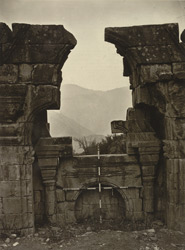 Kashmir. Ruins of a temple at Norwah